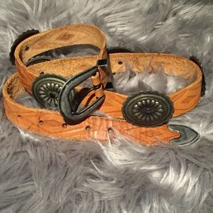Accessories - Genuine Leather Concho Belt 32